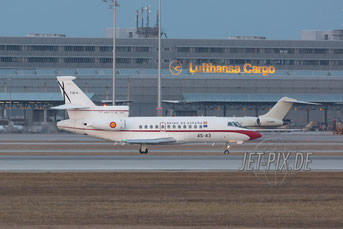 45-43 Reino Espana Falcon F-900 Flughafen München Sicherheitskonferenz