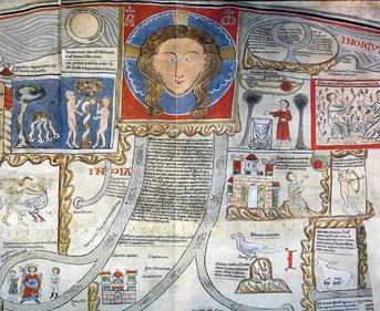 Ebstorfer Weltkarte: Gott umfasst die Welt