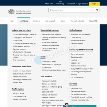 Australian Taxation Office Top page - Individuals