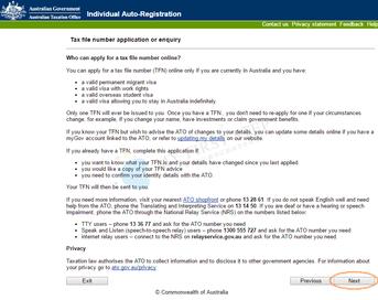 ATO - Individual Auto-Registration 1