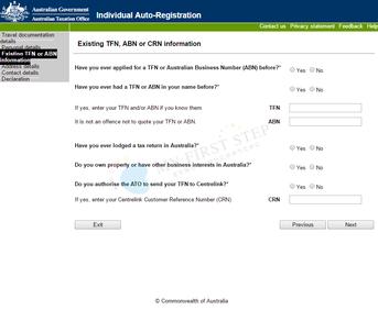 ATO - Individual Auto-Registration 5