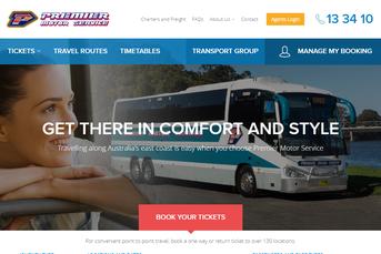 Premier Motor Service ウェブサイト