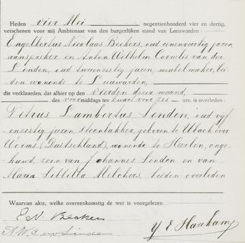 Overlijdensregister 1934 Bijzondere Strafgevangenis Leeuwarden