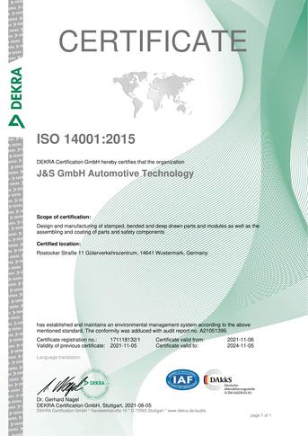 Certificate IATF 16949:2016