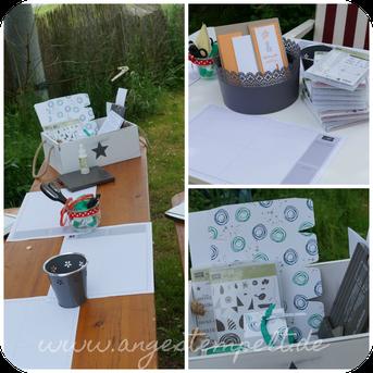Basteltische für die Katalogparty in unserem Garten, Stampin´Up!-Katalog 2016 - Patricia Stich