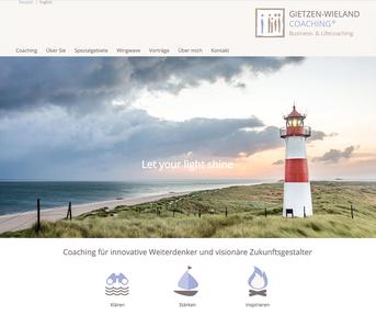 Gietzen-Wieland Coaching Jimdo Webseite