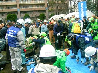 耐震性貯水槽設営訓練