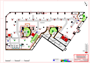 Beispiel: Brandschutzplan - Geschossplan