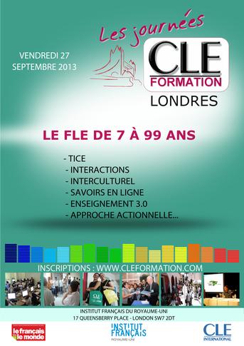 Affiche des Journées CLE Formation à Londres - 2013