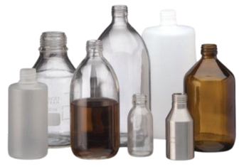 glass sample bottles with cap size 28 mm or 36 mm and GL32 and GL45, for liquid sampling