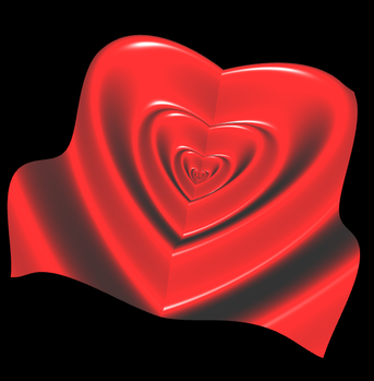 3D Herz als Parameterfläche