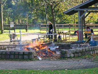 Das Feuer an unserem Pausenplatz