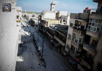 Udsigt over hovedegade i Maarra by