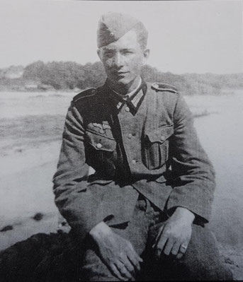 Horst Hermann at Saint Brelade's Bay in 1944