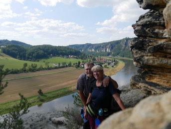 Blick vom Backofen auf die Elbe