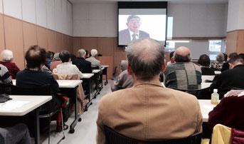☆プロジェクターの画像は佐藤雅彦さんと水谷佳子さんとの対談。