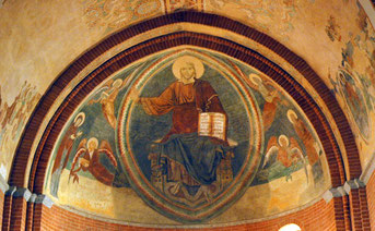 Santa Maria Rossa, il catino absidale