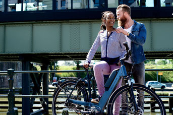 City e-Bikes in der e-motion e-Bike Welt in Ulm