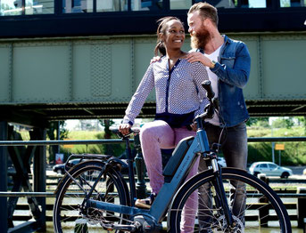 City e-Bikes in der e-motion e-Bike Welt in Moers