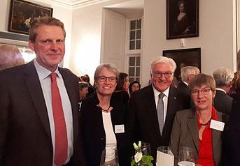 v.l. Dietrich Pritschau, Cathrin Pritschau, Frank-Walter Steinmeier, Susanne Lorenzen