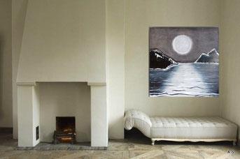 Landschaftsmalerei als Wanddeko für ein modernes Wohndesign online kaufen