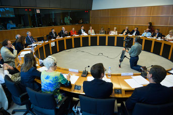 Bild: Vorstellung  der IPF-Charta im Europ. Parlament in Brüssel