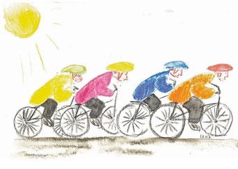 Grußkarte Radfahrer Fahrrad Rennrad