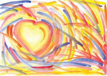 Grußkarte Herz Herzschlag Liebe