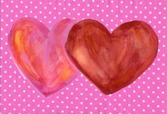 Grußkarte Herzen Liebe