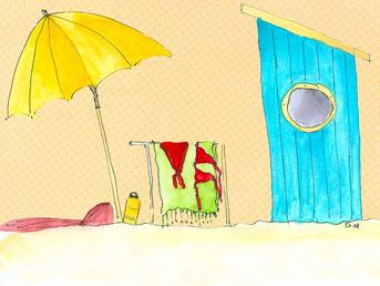 Grußkarte Strand Sommer