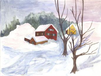 Grußkarte Winter Skandinavien