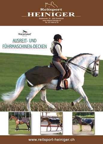 Reitsport Heiniger, Schönbühl - Blogartikel Ausreit- und Führmaschinenedecken von Horseware