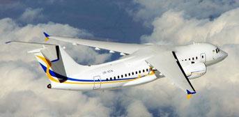 The An-158 is the latest variant built by Ukrainian aircraft producer Antonov  /  source: Antonov Design Bureau