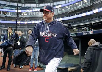 Nella foto il manager degli Indians Terry Francona (Foto da Chicagotribune)
