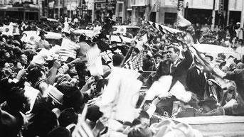 Nella foto Babe Ruth in Giappone