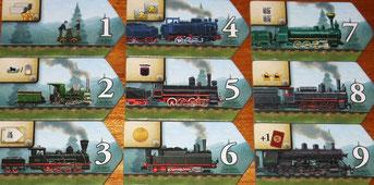 Russian Railroads - Lokplättchen