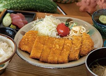 アグー豚ロースカツ定食