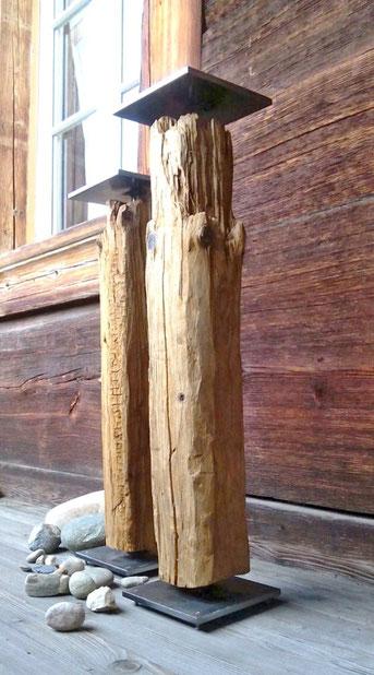Säule aus Tannenholz aus der Wunderwerkstatt.ch