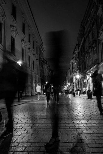 Die Straßen in der Nacht