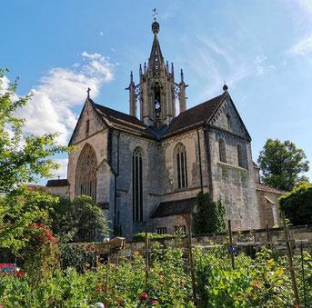 Die mittelalterliche Klosterkirche mit ihrem prachtvollen gotischen Dachreiter ist einer der architektonischen Höhepunkte Bebenhausens. Bild: Max Witzler.