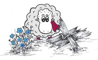 Grace O'Sheep - Leinendecken - S. Fischbacher Living
