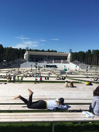 In dieser Arena bei Riga fand das Sängerfestival statt