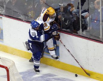 Schlägereien beim Eishockey