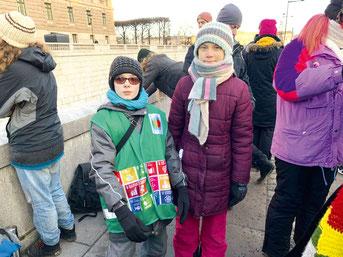 Сын Валерия Вакуленко Антон встретился в Стокгольме со шведской эко-активисткой Гретой Тунберг
