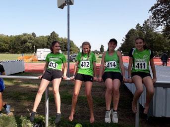 Schwäbisches Staffel-Silber gewannen Magdalena, Louisa, Madeleine und Irene.