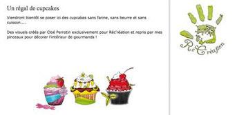 Des cupcakes illustrés en exclusivité par Cloé Perrotin reprit en peinture par Peggy Jeannot