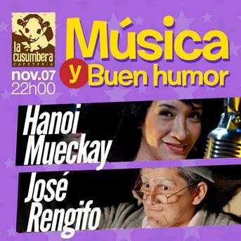 Hanoi Mueckay y José Rengifo en una Noche de Música y Buen Humor en La Cusumbera.