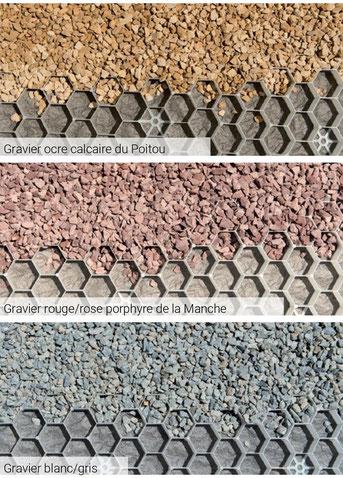 ©Daniel Moquet, signe vos allées - Gravillons Alvéostar - Gravier de couleurs