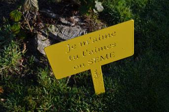 ©IDfer, les étiquettes de jardin décoratives HAPPINESS