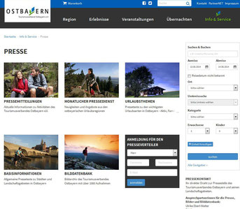 Presseseite Tourismusverband Ostbayern e.V.